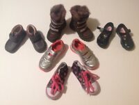 Clarks MotherCare & NEXT Baby Girls X5 Shoes And Boots Bundlle Size 4.5 + 5 & 7