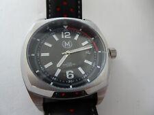 Marchand Watch Company Tourer Silver Driver 43 mm Miyota Quartz w Black Leather