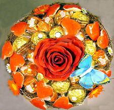Premium Rocher-Küsschen-Strauß Herzen Praline Schokolade Geburtstag Handarbeit