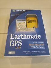 Delorme Earthmate Gps Lt-20, Gps Navigator, Street Atlas Usa, With Software