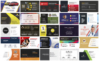 ✨ 31 Business Cards, Photoshop Template, Editable, PSD, Digital Download. B & F