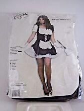 Size XS Women's French Maid Velvet Satin Dress Costume Cosplay Halloween Sexy