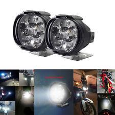 2pcs 1000LM 6500K Motorcycle 6LED Headlights Scooter Fog Spotlight Bracket Mount