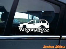 WAGON MAFIA auto sticker aufkleber - for VW Golf 4 Variant, kombi mk4