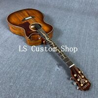 Handmade 39'' Half Cutway Top Quality Full Koa Top&back side  Electric Acoustic