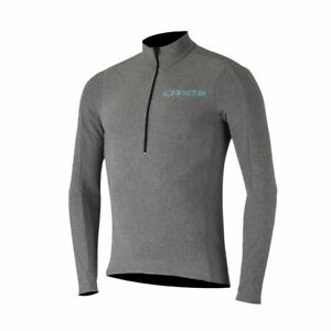 Cycling Jersey Long Sleeve Alpinestars Booter 2017 Melange Grey/Atoll Blue S