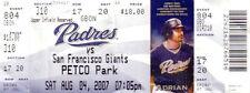 Barry Bonds Home Run 755 Tie Aaron 2007 San Francisco Giants Padres full ticket