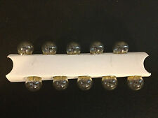 10 Pontiac 53 Clear Mini 12V Clock Instrument Panel License Lamp Light Bulb NOS