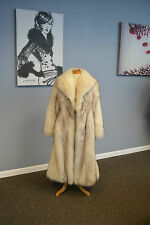 Feathered Norwegian Blue Fox Coat, Always Stored!!!!. Pristine!!! Ironed/Glazed!