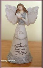 GRANDMOTHER ANGEL FIGURE HOLDING HEART BY PAVILION ELEMENTS 8 IN. FREE SHIPPING