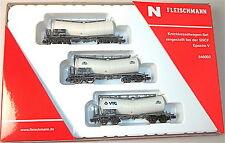 Lot De 3 Zacens SNCF Wagon kink-citernes Ep. V Fleischmann 846002 N 1:160 #HS6