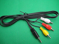 3.5mm to 3XRCA Video Audio Stereo AV Cable For IPOD IPHONE DV MP3 AUX MP4 To TV