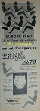 PUBLICITE de 1958 TRIM SLIP SPECIAL POUR HOMME EN VOITURE TRIMECA SOUS VETEMENTS