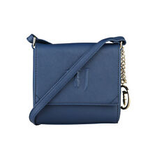 Damentasche Umhängetasche Original Trussardi sportlich, Across-Body Bag Blue