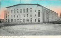 Des Moines Iowa~Coliseum Building~Fire Destroyed 1949~1910 Blue Sky Postcard