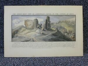 The North West View of Caergwrley Castle Flint Sam & Nath Buck 1742 Coloured