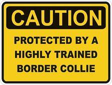 Dog Breed Border Collie Caution Sticker Pet for Bumper Car Locker Door Truck