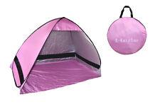 Pop up Zelt Automatik Strandmuschel Beach Tent Sonnenschutz UV Wurfzelt lila