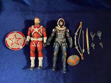 Marvel Legends Red Guardian and Task Master figures loose, complete