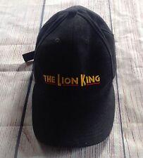 e64dcdc1a0b2a Disneys THE LION KING Broadway Black Baseball Hat Cap Adjustable VIP SIMBA  NALA