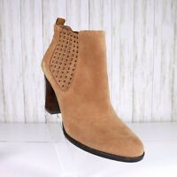 Antonio Melani Camel Suede Ankle Boots Size 8.5 Womens Leather euc 8.5M