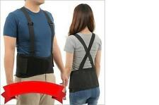 "BLACK LUMBAR SACRAL BACK SUPPORT BELT BRACE upto 32"" + XS EXTRA SMALL S STRAPS !"