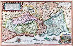 Antique map, Peregrination Ihesu Christi
