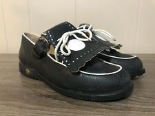 Walter Genuin Women's Black Soft Spike Golf Shoes Handmade in Italy US Size 6