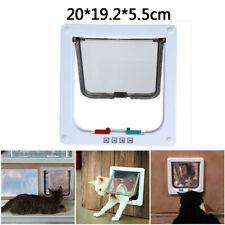 M 4 Way Pet Cat Puppy Dog Magnetic Lock Lockable Safe Flap Door Gate Frame