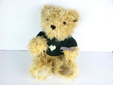 """Annette Funicello Bear Co. Blonde Green Sweater Heart Jointed With Tags 13"""" EUC"""