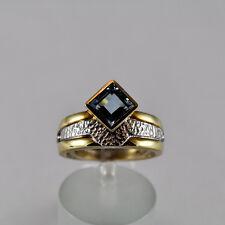 Aquamarin 1,1ct Ring Gelbgold 585 Beryll Größe 54 Handarbeit Idar Oberstein