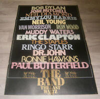 A1 - Filmplakat - THE BAND THE LAST WALTZ - R  Robertson, B Dylan, R Starr