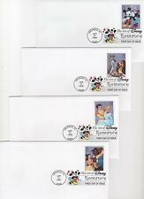 US FDC 2006 4 Covers Disney The Art of Romance Uncacheted Unaddressed |