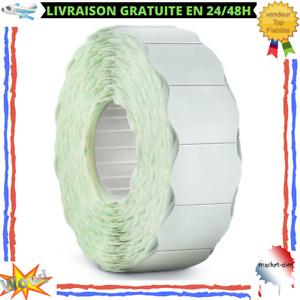 Lot 6 Rouleau Étiquette Adhésif Permanent 6000 Pièces Blanc 6 x 16 mm Universel