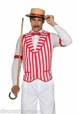 BARBER SHOP QUARTET RED & WHITE STRIPED VEST ADULT ACCESSORY MENS STANDARD SIZE