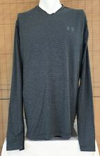UNDER ARMOUR Mens 2XL ColdGear Black Graphite Stripe Infrared Fitted Pullover