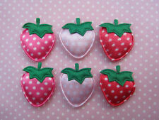 """60 Padded 1"""" Satin Strawberry w/leave Polka/Appliques-3 Colors FT017"""