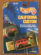 Hot Wheels 1989 California Custom '40's Woodie Pink/Blue Unopened
