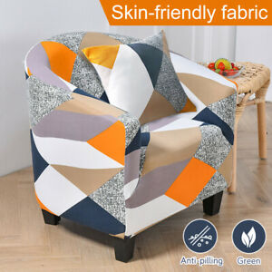 1 Seater Soft Sofa Couch Covers Floral Elastic Stretch Slipcover Protector Cube