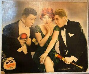 """Rare Clara Bow """"LOVE AMONG THE MILLIONAIRES"""" Jumbo Lobby Card 14""""x17"""" Excellent"""