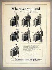 Mimeograph Duplicator Machine PRINT AD - 1943