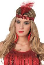 20er Jahre Stirnband rot NEU - Karneval Fasching Hut Mütze Kopfbedeckung
