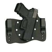 FoxX Leather & Kydex IWB Hybrid Holster Glock 29, 30 & 30SF Black Right Tuckable
