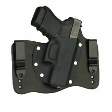 FoxX Leather & Kydex IWB Hybrid Holster Glock 30 & 30SF Black Right Tuckable