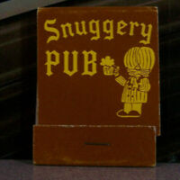 Vintage Matchbook Z3 Illinois Chicago Mount Prospect Snuggery Pub Cute Tavern