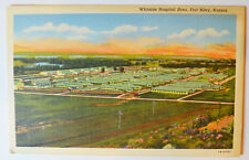 Kansas Fort Riley Whitside Hospital - Army WWII - Postcard ca 1940s