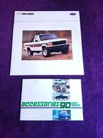 1990 Ford Ranger Sales Brochure & Light Truck Accessories FDT-9004 FPM-2341