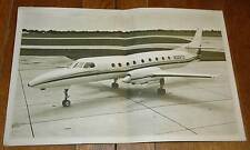 Vintage Rare Merlin IV Turboprop Airesearch brochure fold out poster