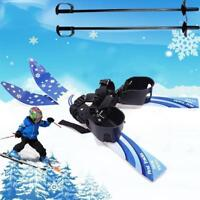 Kid's Beginner Snow Skis Poles Board Bindings Skiblades Snowboard