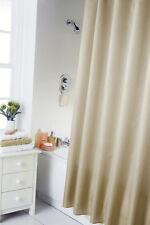 Plain Shower Curtain for Bathroom Bath with Hooks Rings Latte cream colour